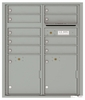 Versatile Front Loading Double Column Commercial Mailbox with 9 Tenant Compartments and 2 Parcel Lockers