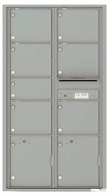 Versatile Front Loading Double Column Mailbox with 7 Tenant Compartments and 2 Parcel Lockers