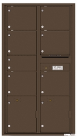 Versatile Rear Loading Double Column Mailbox with 7 Tenant Compartments and 2 Parcel Lockers