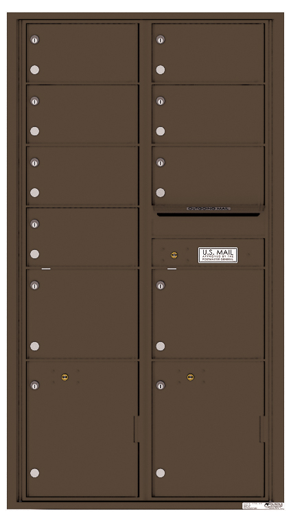 Front loading 4c horizontal mailbox 4c16s 09r auth florence for Auth florence