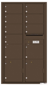 Versatile Rear Loading Double Column Mailbox with 9 Tenant Compartments and 2 Parcel Lockers