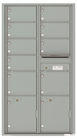 Versatile Front Loading Double Column Mailbox with 9 Tenant Compartments and 2 Parcel Lockers