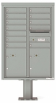 12 Doors High 4C Pedestal Mailboxes