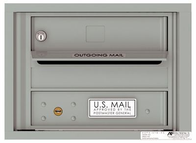 Versatile Front Loading Fully Recessed 4C Mailbox with 1 Tenant Door and Outgoing Mail Slot