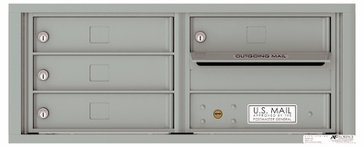 Versatile Front Loading Fully Recessed 4C Mailbox with 4 Tenant Doors and Outgoing Mail Slot