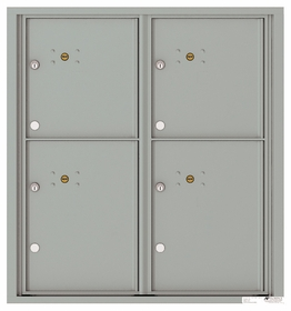 Versatile Front Loading Fully Recessed Double Column Commercial Mailbox with 4 Extra-Large Parcel Lockers