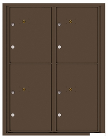 Versatile Rear Loading Fully Recessed Double Column Commercial Mailbox with 2 Large Parcel Lockers