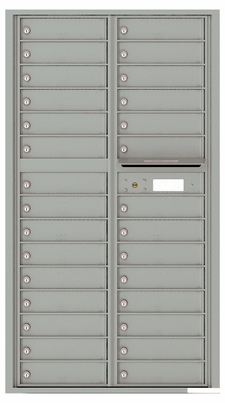 Versatile Front Loading Mailbox with 29 Tenant Compartments