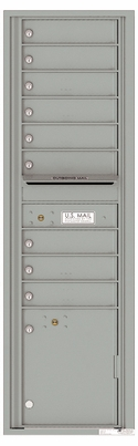 Versatile Front Loading Mailbox with 9 Tenant Compartments and 1 Parcel Locker