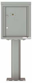 Versatile Front Loading Pedestal Mailbox with 1 Parcel Locker