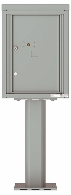 Versatile Front Loading Pedestal Mailbox with 1 Large Parcel Locker