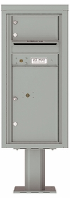 Versatile Front Loading Pedestal Mailbox with 1 Tenant Door and 1 Parcel Locker