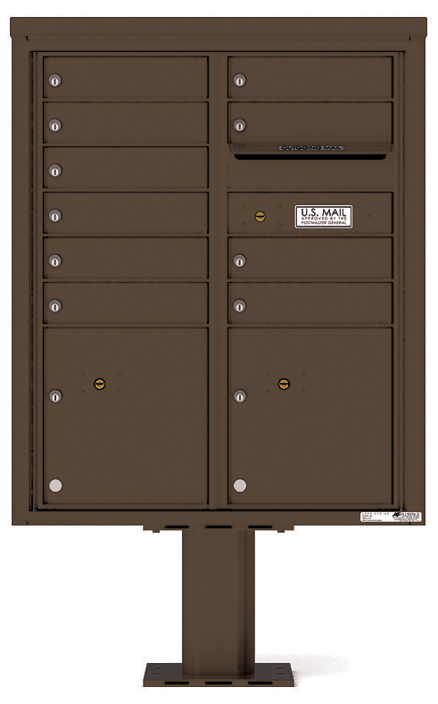 Front Loading 4c Pedestal Mailbox 4cadd 10 P Auth Florence