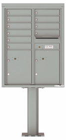 11 Doors High 4C Pedestal Mailboxes