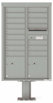 13 Doors High 4C Pedestal Mailboxes