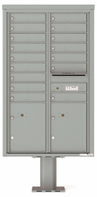 4C Pedestal Mailboxes 14 Doors High