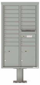 4C Pedestal Mailboxes with Parcel Lockers 17 to 18 Doors