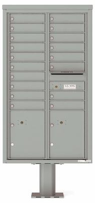 Versatile Front Loading Pedestal Mailbox with 18 Tenant Doors and 2 Parcel Lockers