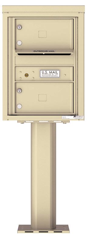 Front Loading 4C Pedestal Mailbox 4C06S-02-P   Auth-Florence