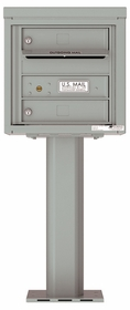 Versatile Front Loading Pedestal Mailbox with 2 Tenant Doors and Outgoing Mail Slot