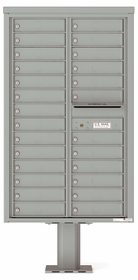 Versatile Front Loading Pedestal Mailbox with 26 Tenant Compartments