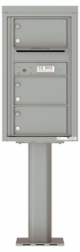 Versatile Front Loading Pedestal Mailbox with 3 Extra-Large Tenant Doors and Outgoing Mail Slot