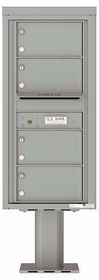 Versatile Front Loading Pedestal Mailbox with 4 Tenant Doors and Outgoing Mail Slot