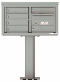 Versatile Front Loading Pedestal Mailbox with 6 Tenant Doors and Outgoing Mail Slot