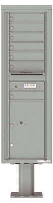 Versatile Front Loading Pedestal Mailbox with 7 Extra-Large Tenant Doors and 1 Parcel Locker