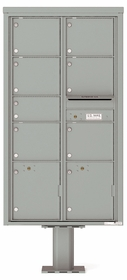 Versatile Front Loading Pedestal Mailbox with 7 Large Tenant Doors and 2 Parcel Lockers