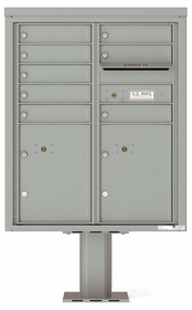 Versatile Front Loading Pedestal Mailbox with 8 Tenant Doors and 2 Parcel Lockers