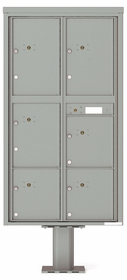 Versatile Front Loading Pedestal Mounted Parcel Lockers - 6 Units