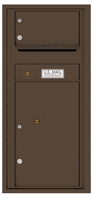 Versatile Rear Loading Single Column Commercial Mailbox with 1 Tenant Compartment and 1 Parcel Locker