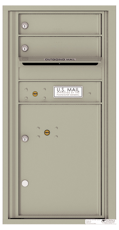 Rear loading 4c commercial mailbox 4c09s 02r auth florence for Auth florence