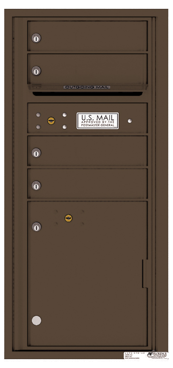 Front loading 4c commercial mailbox 4cads 04 auth florence for Auth florence