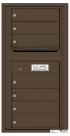 Versatile Rear Loading Single Column Commercial Mailbox with 7 Tenant Compartments and Outgoing Mail Slot