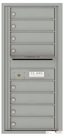 Versatile Front Loading Single Column Commercial Mailbox with 8 Tenant Compartments and Outgoing Mail Slot