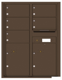 Versatile Rear Loading Single Column Commercial Mailbox with 9 Tenant Doors and Outgoing Mail Slot