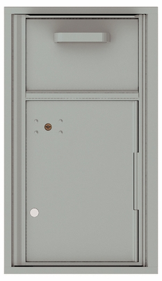 Versatile Front Loading Single Column Mailbox Collection Drop Box with Pull Down Hopper - 4C08S-HOP