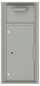 Versatile Front Loading Single Column Mailbox Collection Drop Box with Pull Down Hopper - 4C10S-HOP