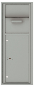 Versatile Front Loading Single Column Mailbox Collection Drop Box with Pull Down Hopper - 4C12S-HOP