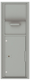Versatile Front Loading Single Column Mailbox Collection Drop Box with Pull Down Hopper - 4C13S-HOP