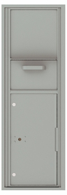 Versatile Front Loading Single Column Mailbox Collection Drop Box with Pull Down Hopper - 4C14S-HOP