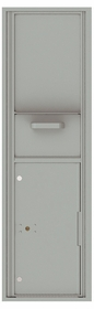 Versatile Front Loading Single Column Mailbox Collection Drop Box with Pull Down Hopper - 4C16S-HOP