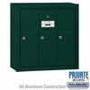 Salsbury 3503GSP Vertical Mailbox - 3 Doors - Green - Surface Mounted - Private Access