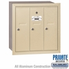 Salsbury 3503SRP Vertical Mailbox - 3 Doors - Sandstone - Recessed - Private Access