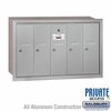 Salsbury 3505ARP Vertical Mailbox - 5 Doors - Aluminum - Recessed Mounted - Private Access