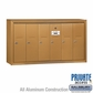 Salsbury 3506BSP Vertical Mailbox - 6 Doors - Brass - Surface Mounted - Private Access