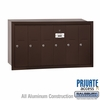 Salsbury 3506ZRP Vertical Mailbox - 6 Doors - Bronze - Recessed Mounted - Private Access