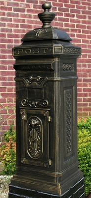 Victorian Tower Rear Access Mailbox - Bronze